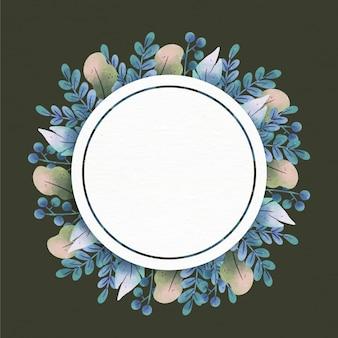 Blumenrahmen mit leerem raum