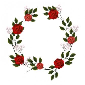 Blumenrahmen mit rosen