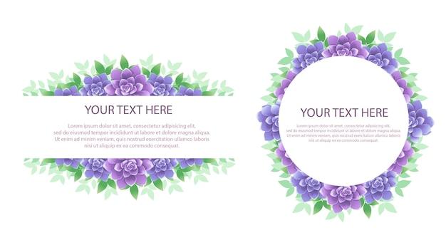 Blumenrahmen mit text