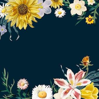 Blumenrahmenhintergrund