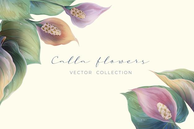 Blumenrahmenillustration