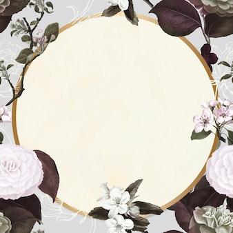 Blumenrahmenvektorweinlesehand gezeichnet