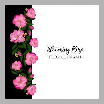 Blumenrand der rosafarbenen rose