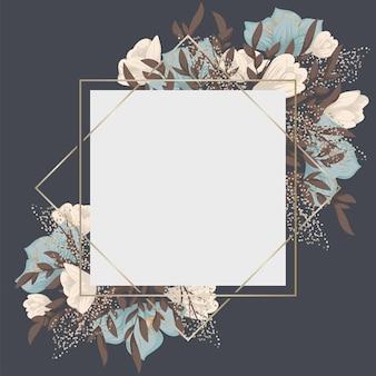 Blumenrand mit süßen blumen