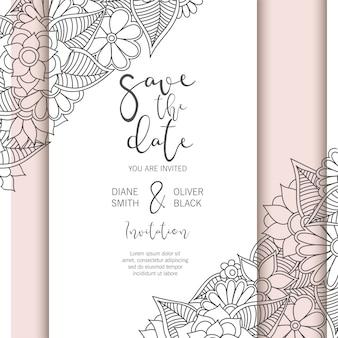 Blumenrandhintergrund - rosa blumenrand
