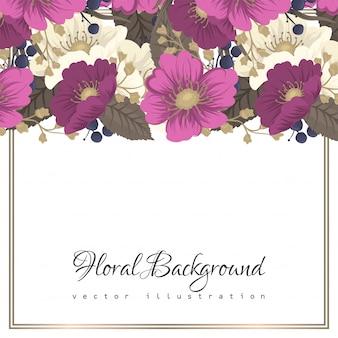 Blumenrandzeichnung - blume des heißen rosas