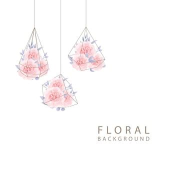 Blumenrosen der hochzeitseinladung