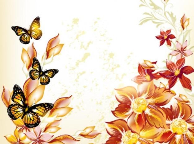 Blumenschablone hintergrund vector set