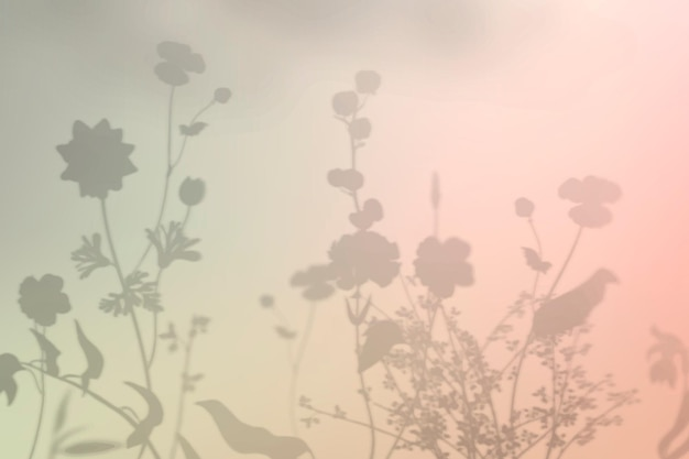 Blumenschattenhintergrundvektor bunter farbverlauf
