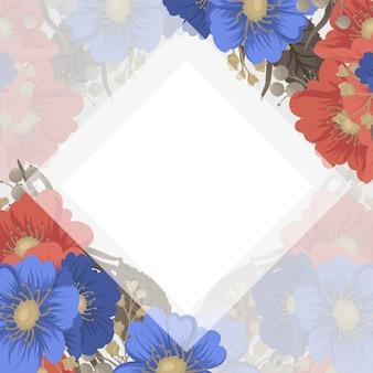 Blumenseiteninternatsschüler - blaue und rote blumen