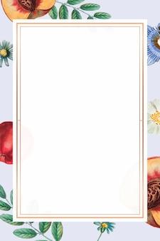 Blumensommerrahmenvektorweinlesezeichnung