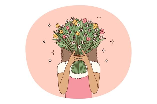 Blumenstrauß des blumenkonzepts
