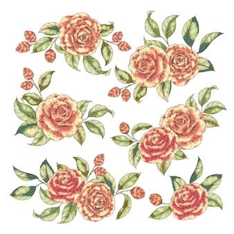 Blumenstrauß gesetzt