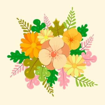 Blumenstrauß im vintage-stil