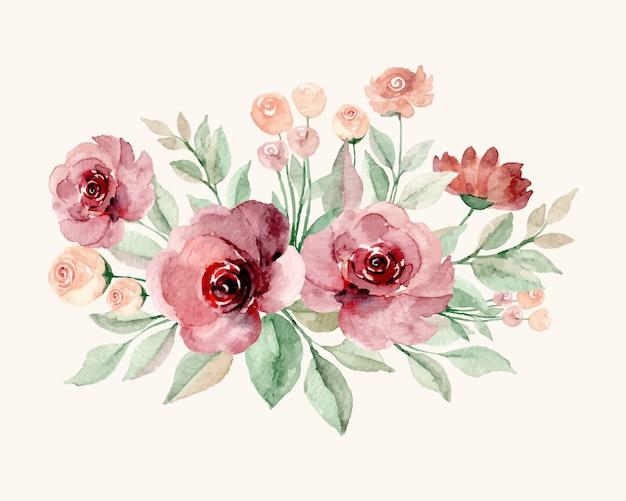 Blumenstrauß mit aquarell