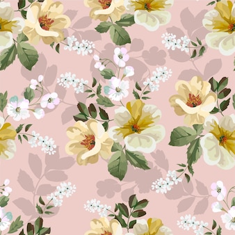 Blumenstrauß nahtloses muster