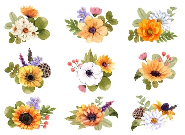 Blumenstrauß setzen.