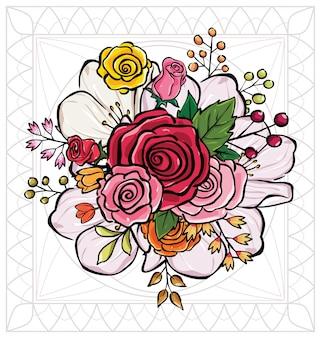 Blumenstrauß vektor-illustration