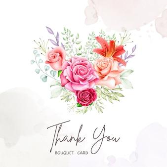Blumenstraußrahmen-aquarellansammlung