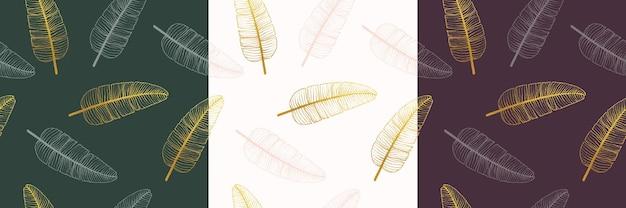Blumenstraußvektormuster mit blättern