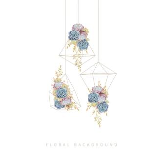 Blumensucculent im terrarium hängen