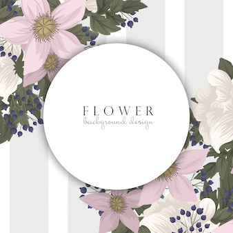 Blumenvisitenkarten rosa blumen