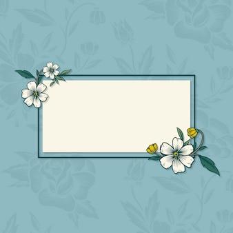 Blumenweinleserahmen