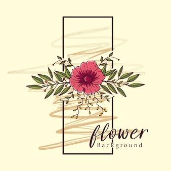 Blumenweinlesewandrahmen-dekorationskunstvektor