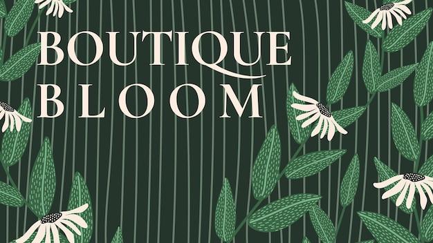 Blumenworkshop-vorlagenvektor für blog-banner