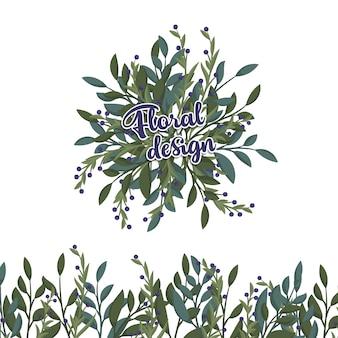 Blumenzusammensetzung mit bunter blume