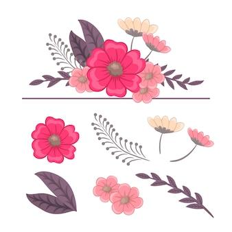 Blumenzusammensetzung.