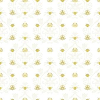 Blumige endlose textur der zierspitze. dekoratives element der wiederholung, nahtloser hintergrund. vektorillustration