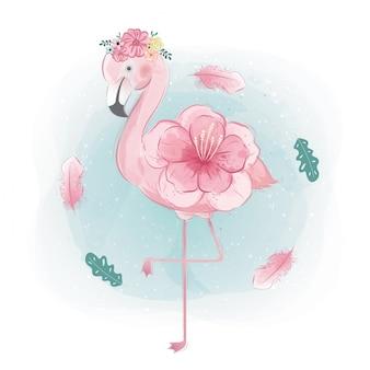 Blumiger flamingo
