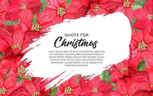 Blumiger hintergrund für zitat weihnachten mit spritzer