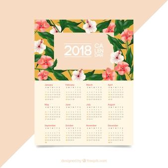 Blumiger kalender 2018
