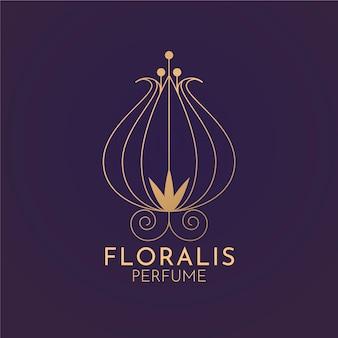 Blumiges luxus-parfüm-logo