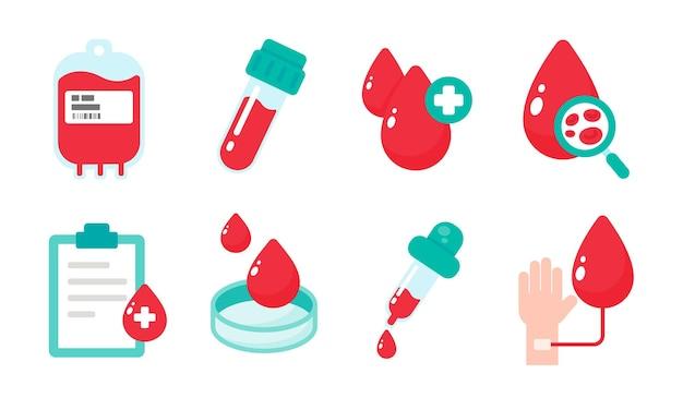 Blut, das die blutgruppe anzeigt. das konzept eines bluttests zur diagnose einer schweren krankheit.