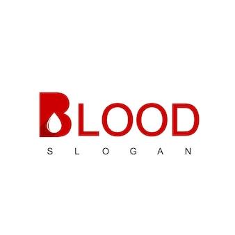 Blut-logo mit buchstabe b-symbol