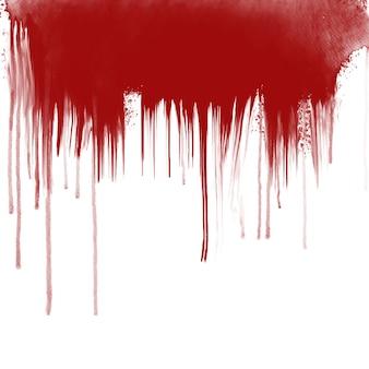 Blut tropft auf weißem hintergrund