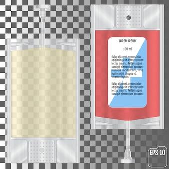Blutbeutel lokalisiert auf transparentem hintergrund. vektor