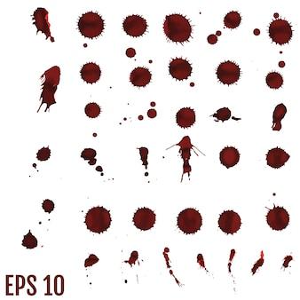 Blutfleck, rote tropfen, splatter gemalte kunst