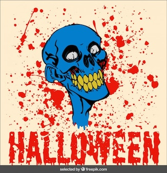 Blutige zombie-