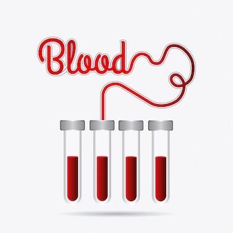 Blutspende design.