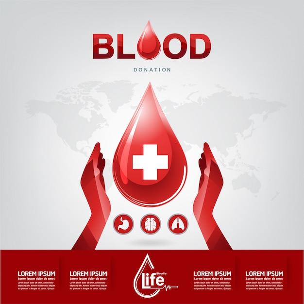 Blutspende-vektor-konzept