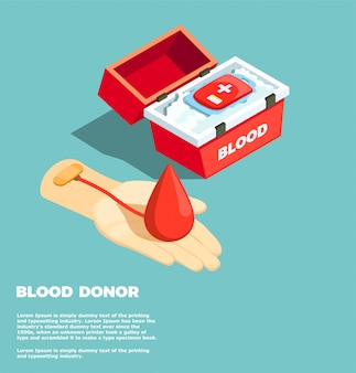 Blutspender-isometrisches konzept des entwurfes