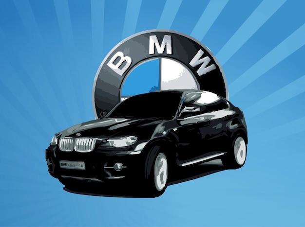 Bmw power ride off road car vector