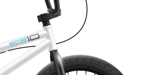 Bmx fahrrad - frontbereich nahaufnahme.