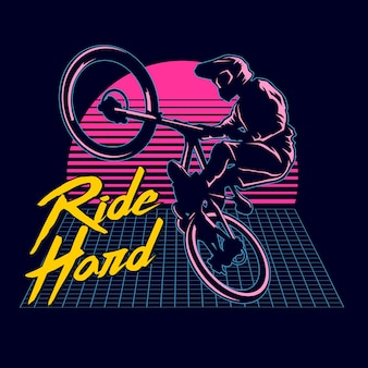 Bmx ride graphic illustration