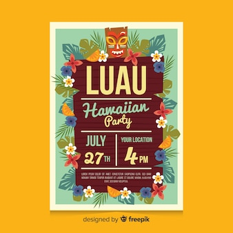 Board luau party plakat vorlage
