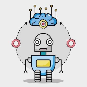 Bobbot-technologie mit gehirnschaltungen